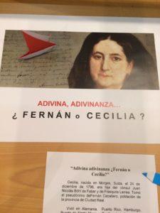ADIVINA, ADIVINANZA. ¿FERNÁN o CECILIA?
